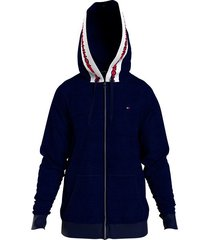 tommy hilfiger hoodie/vest heren - donkerblauw