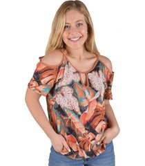 blusa floreada terracota alexandra cid