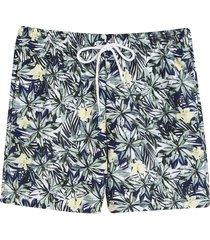 pantaloneta de baño hojas color blanco,talla xs