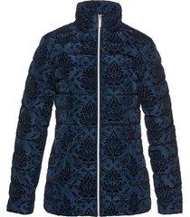 giacca trapunta con stampa vellutata (blu) - bpc selection