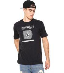 camiseta volcom id preta - preto - masculino - dafiti