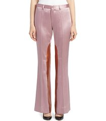 satin colorblock trousers