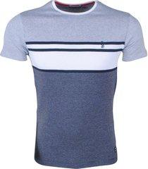 mz72 heren t-shirt fijngebreid trickle - blauw