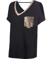 maglia oversize con paillettes (nero) - bodyflirt