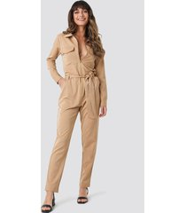 sisters point emmi jumpsuit - beige