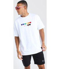 pride rainbow heart oversized t-shirt