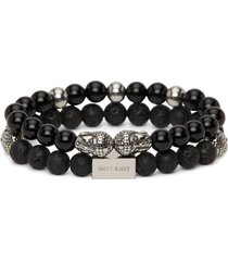 matt & nat miracle buddha black grey stone bracelet, black