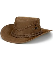chapéu fourcountry australiano tabaco trançado bege