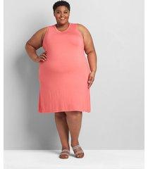 lane bryant women's sleeveless swing dress 38/40 sun kissed coral