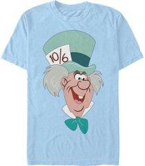 fifth sun men's mad hatter big face short sleeve t-shirt