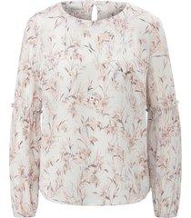 blouse van 100% zijde met grassenprint van uta raasch multicolour