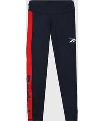 leggings azul-rojo-blanco reebok linear logo