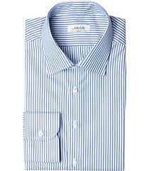 camicia da uomo su misura, thomas mason, pinpoint a righe blu, quattro stagioni