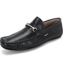 zapato azul oscuro preppy clz crust marine h-a3298 / trump negra