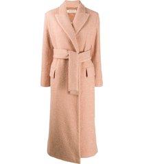 blanca vita belted midi coat - pink