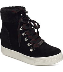 windy high sneaker shoes boots ankle boots ankle boots with heel svart steve madden