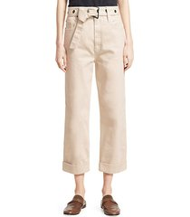 grommet cuffed belted cargo pants