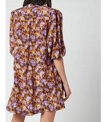baum und pferdgarten women's avagail dress - paris flower sunshine - eu 40/uk 12