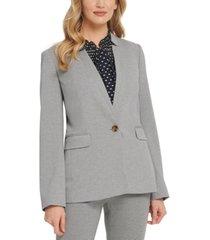 dkny notch-collar one-button blazer