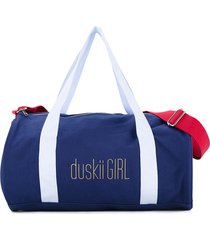 duskii girl poppy duffle bag - blue
