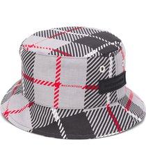 mackintosh barr plaid bucket hat - grey