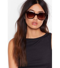womens tort about it pointed cat-eye sunglasses - brown