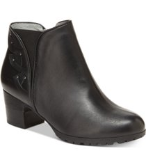 jambu women's roma block-heel booties women's shoes