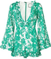 alexis floral print playsuit - green