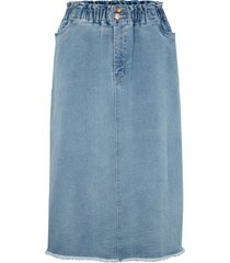 gonna paperbag in jeans maite kelly (blu) - bpc bonprix collection