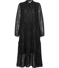 carisz maxi dress jurk knielengte zwart saint tropez