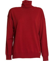 dsquared wool turtleneck pullover in red