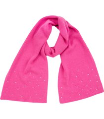 women's carolyn rowan accessories crystal embellished cashmere scarf, size one size - pink