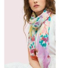 kate spade new york colorblock floral silk oblong scarf
