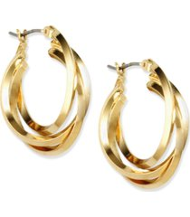 anne klein three ring hoop earrings