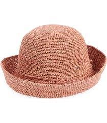 helen kaminski 'provence 10' packable raffia hat in peony at nordstrom