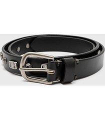 cinturón fashion belt argent negro amphora