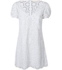 michael kors perforated v-neck dress