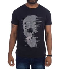 heads or tails 3d graphic fading skull t-shirt