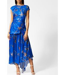 preen by thornton bregazzi women's andrea dress - blue garland - l - blue