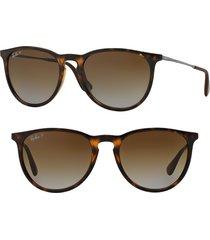ray-ban erika classic 54mm sunglasses - havana