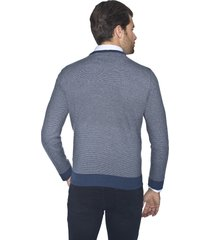 sweter belton w serek niebieski