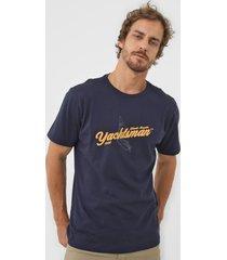 camiseta yachtsman atlantic regatta azul-marinho - azul marinho - masculino - algodã£o - dafiti