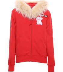 chinese new year 2020 pink sweatshirt with fur for woman
