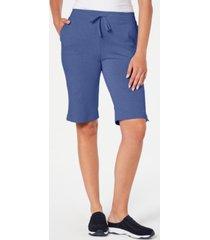 karen scott petite pull-on skimmer shorts, created for macy's