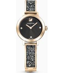 orologio cosmic rock, bracciale di metallo, grigio, pvd tonalitã oro champagne