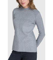 sweater ash gris - calce ajustado
