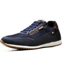 sapatãªnis sapato casual juilli   com cadarã§o 1100m azul - azul - masculino - couro sintã©tico - dafiti