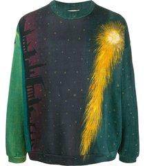 marco de vincenzo comet print sweatshirt - blue
