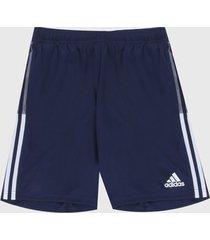 pantaloneta azul-blanco adidas performance entrenamiento tiro