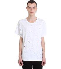 amiri t-shirt in white cotton